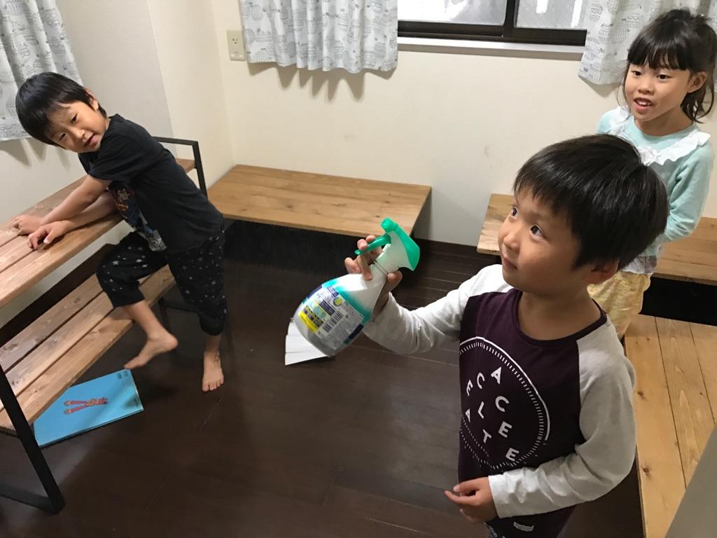 子ども達だけの大掃除