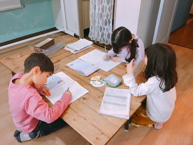 小学校懇談会時の預かり保育✨😊