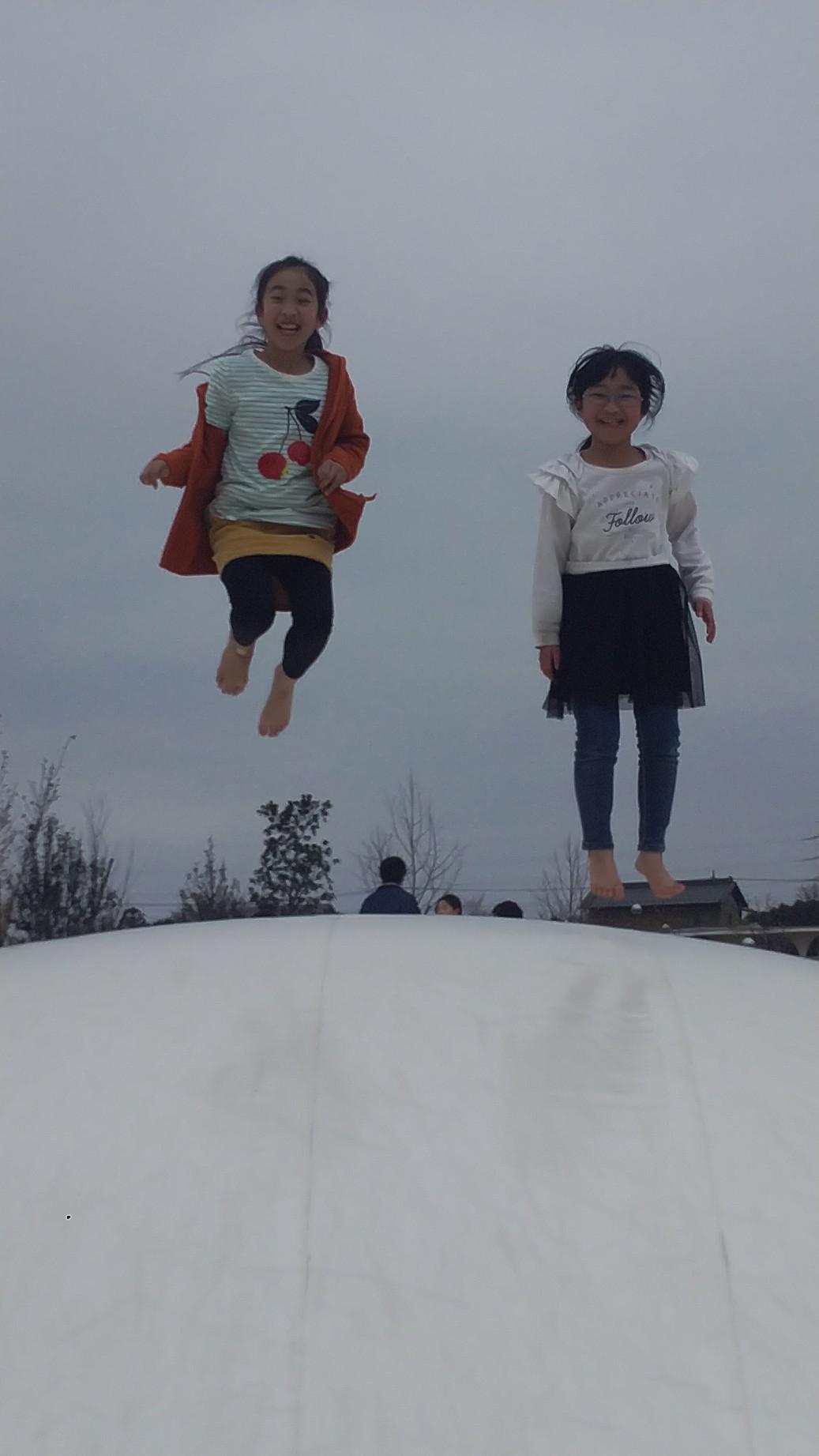 今年度最後の土曜保育に大ジャンプ!!